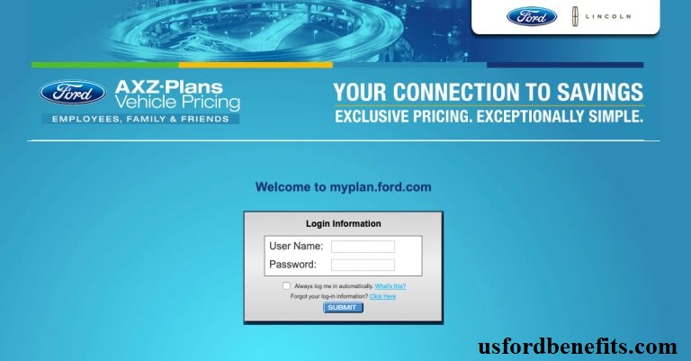 Ford axz plan login|ford employee axz plan