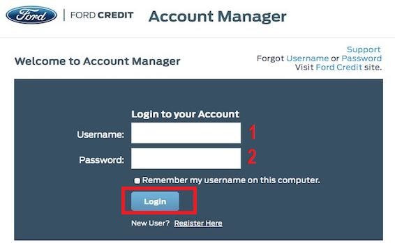 Ford credit card login